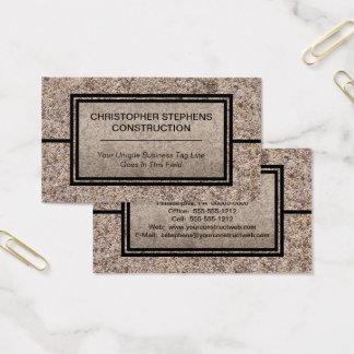 Rustikales konkretes Baugewerbe Visitenkarten