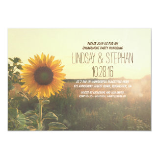 rustikales Landsonnenblume-Verlobungs-Party lädt 12,7 X 17,8 Cm Einladungskarte