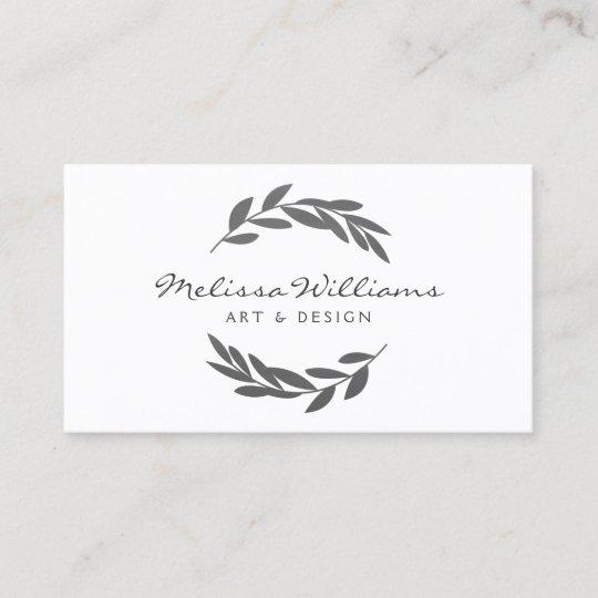 Rustikales ölzweig Kranz Logo Visitenkarte Zazzle At