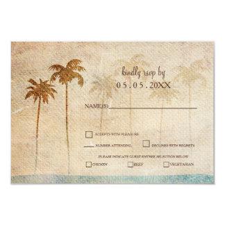 Rustikales Palme-Strand-Hochzeits-uAwg 8,9 X 12,7 Cm Einladungskarte