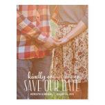 Rustikales Vintages | Foto Save the Date Postkarten
