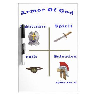 Rüstung der Gottprodukte Trockenlöschtafel