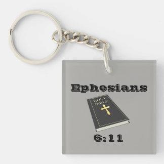 Rüstung des Gottes Keychain w/Bible Schlüsselanhänger