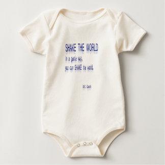 RÜTTELN Sie die Welt - auf eine leichte Art Baby Strampler