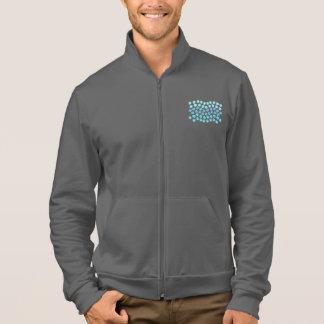 Rüttler der blauen Wellen-Männer Zip Jacke