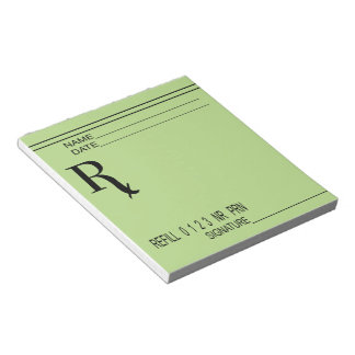 Rx Verordnungs-Auflage - schreiben Sie Ihre eigene Notizblock