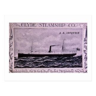 S.S. Iroquois Vintager US-Militär-Dampfer Postkarte