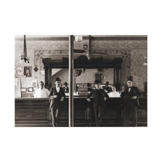 Saal-Bar-Innenmänner bemannen Höhle 1890's Foto Leinwanddruck
