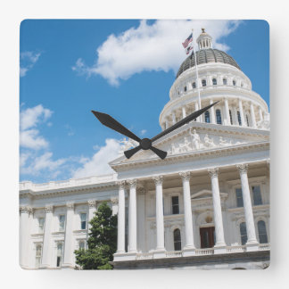 Sacramento-Staats-Hauptstadt von Kalifornien Quadratische Wanduhr