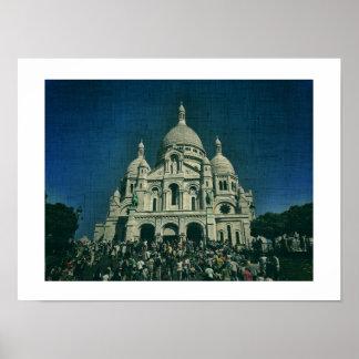 Sacré-Cœur Montmartre Leinwand-Paris-Plakat Poster