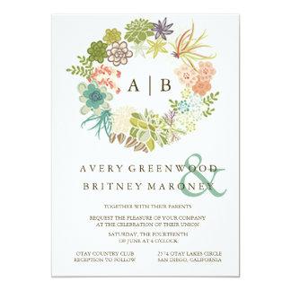Saftige Aquarell-Hochzeits-Einladung 12,7 X 17,8 Cm Einladungskarte