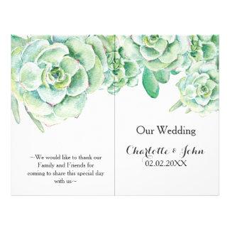 saftiges Hochzeitsprogramm des Aquarells 21,6 X 27,9 Cm Flyer