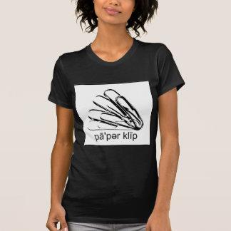 Sagen Sie Büroklammer-Schwarzes u. Weiß T-Shirt