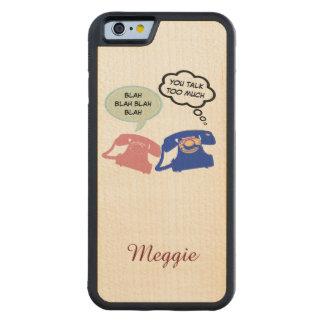 sagen Sie hallo, Blabla - Blabla lustiges Bumper iPhone 6 Hülle Ahorn