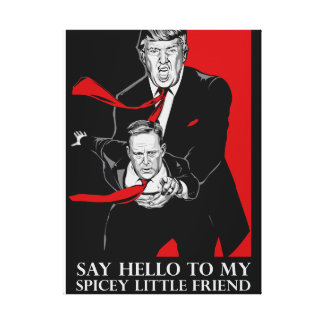 Sagen Sie hallo zu meiner Spicey wenig Leinwanddruck