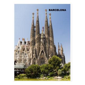 Sagrada Familia Barcelona Spanien Postkarten