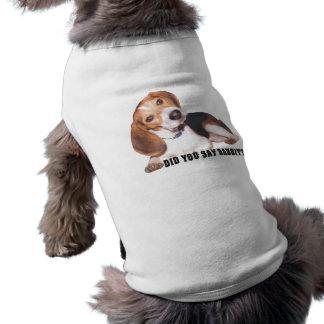 Sagten Sie Kaninchen? Beagle-Shirt für Ihren Shirt