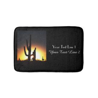 Saguaro-Sonnenuntergang-personalisierte Bad-Matte Badematte