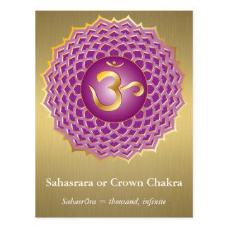 Sahasrara oder Krone Chakra Postkarte
