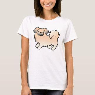 SahneSabletibetanischer Spaniel-Cartoon-Hund T-Shirt