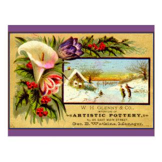 Saisonerinnerung: Eis-Skaten Postkarte