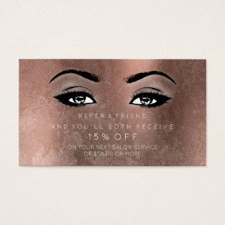 Salon Referrential Karten-Rosen-Kupfer peitscht Visitenkarte