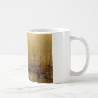 Salthouse Dock, Liverpool John Atkinson Grimshaw Kaffeetasse