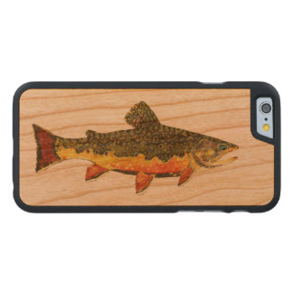 Salvelinus Fontinalis Carved® iPhone 6 Hülle Kirsche