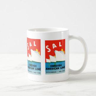 SALZ ~ schwedische amerikanische Linie Kaffeetasse