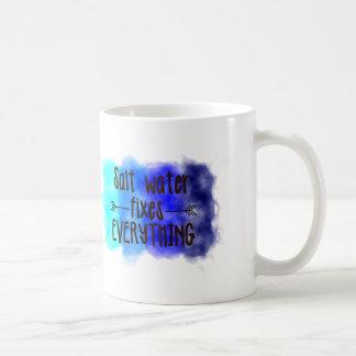Salzwasser-Verlegenheiten alles Tasse