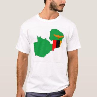 Sambia-Landesflaggekarten-Formsymbol T-Shirt