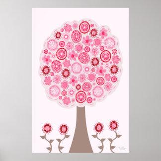 Samen des rosa Liebe-Baums Poster