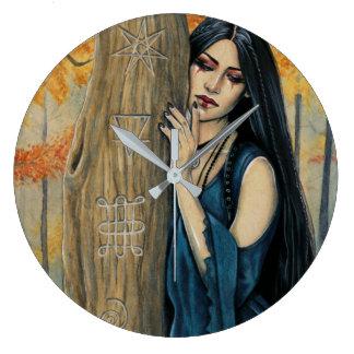 Samhain gotische Herbst-Hexe-Wanduhr Große Wanduhr