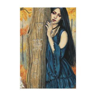 Samhain gotische leinwanddruck