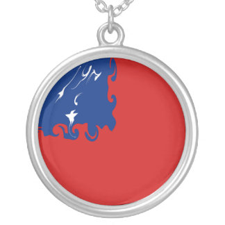 Samoa-Inseln Gnarly Flagge Halskette