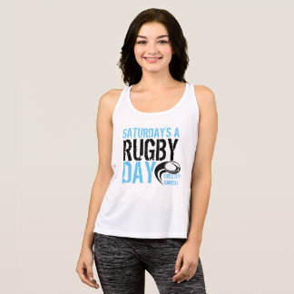 Samstages ein Rugby-Tag Tank Top