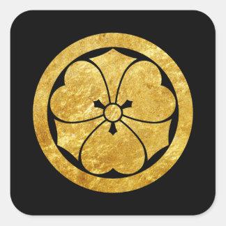 Samurai-Imitatgold Sakais Montag japanisches auf Quadratischer Aufkleber