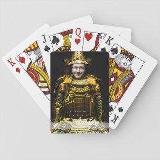 Samurai-japanischer Krieger - fügen Sie IHR Foto Spielkarten