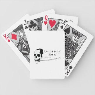 Samurai-Schädel Bicycle Spielkarten