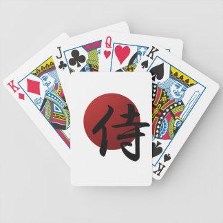 Samurais Sun Bicycle Spielkarten