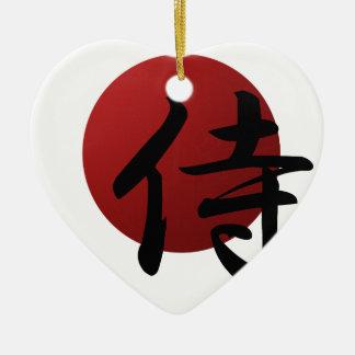 Samurais Sun Keramik Ornament