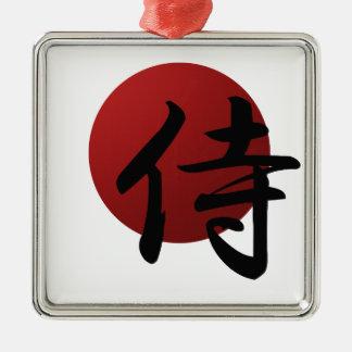 Samurais Sun Silbernes Ornament