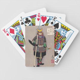 Samurais Yukimori 山中幸盛 durch Yoshitoshi 月岡芳年 Bicycle Spielkarten