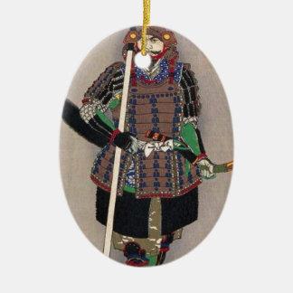 Samurais Yukimori 山中幸盛 durch Yoshitoshi 月岡芳年 Keramik Ornament