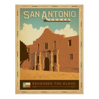 San Antonio, TX Postkarte