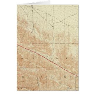 San- Antonioviereck, das San- Andreasriß zeigt Karte