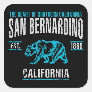 San Bernardino Quadratischer Aufkleber