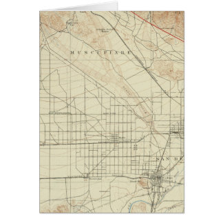 San- Bernardinoviereck, das San- Andreasriß zeigt Karte