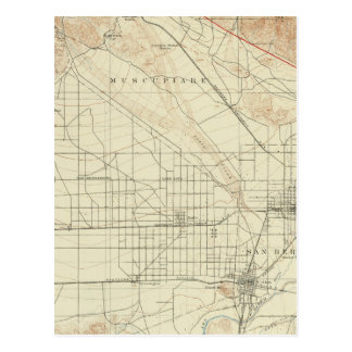 San- Bernardinoviereck, das San- Andreasriß zeigt Postkarte