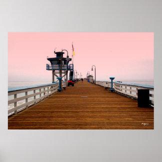 San Clemente-Pier-Plakat